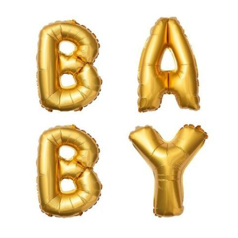 Metallic Gold Baby Balloons