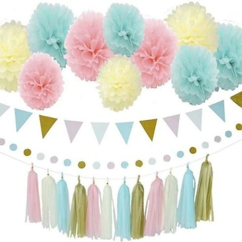 Gender Reveal Party Decorating Set
