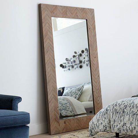 Corrigan Studio Chevron Wood Framed Mirror
