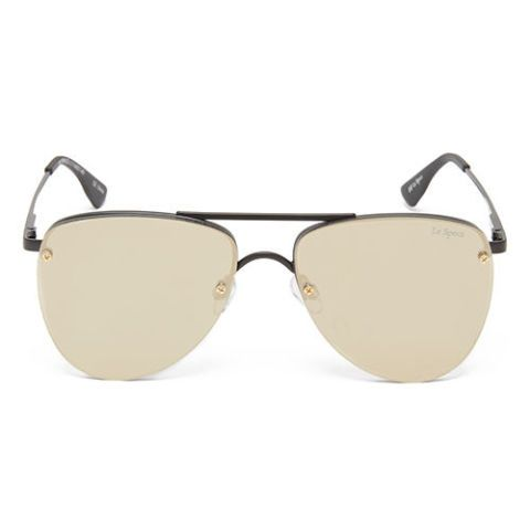 le specs the prince mirrored aviator sunglasses