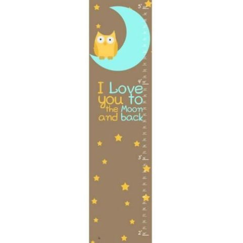 """I Love You to the Moon"" Growth Chart"