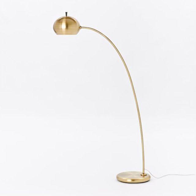 Fresh Antique Brass Arc Floor Lamp Rn81