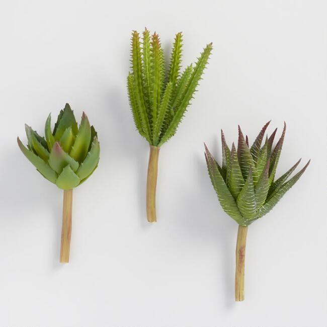 World Market Mini Faux Aloe And Cactus Stems