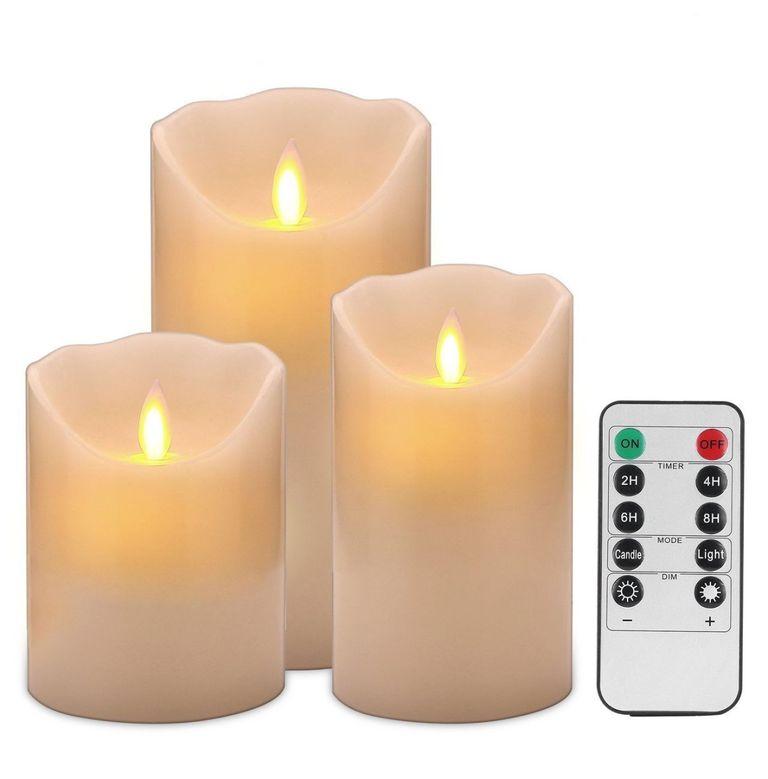 Good Electronic Flameless Candles Set