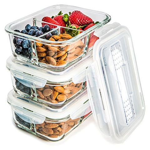 Prep Naturals Glass Meal Prep Food Storage Containers  sc 1 st  BestProducts.com & 15 Best Glass Storage Containers for Your Food - Glass Storage ...