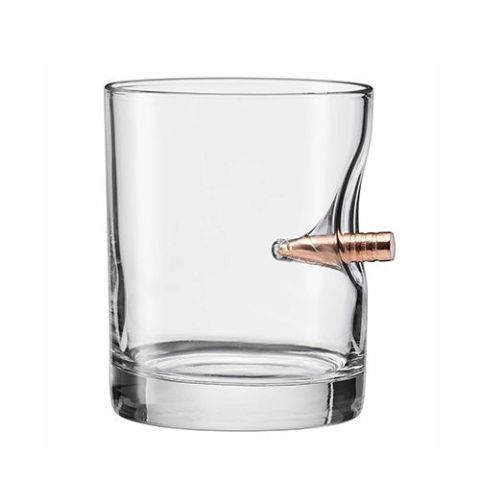 The Original BenShot Bullet Rocks Glass with Real 0.308 Bullet