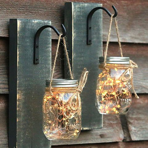 Everything Rustique Mason Jar Sconces