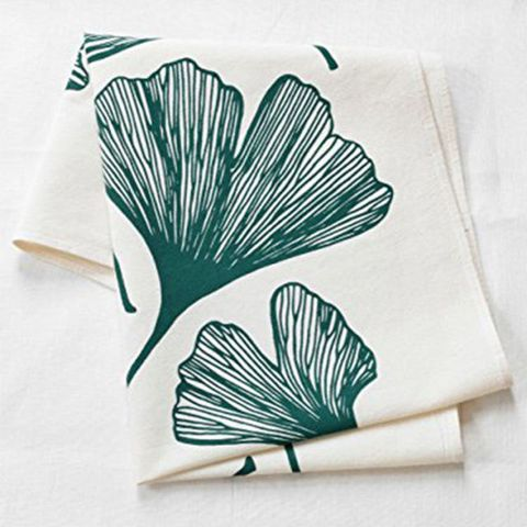 Hearth and Harrow Ginkgo Leaf Flour Sack Tea Towel