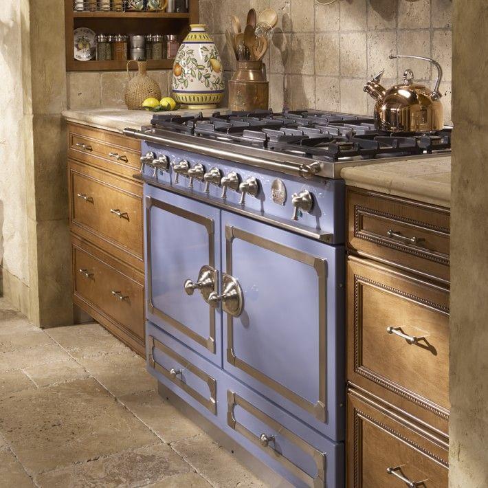Retro Kitchen Appliances. La Cornue Dual Fuel Range Stove In Provence Blue