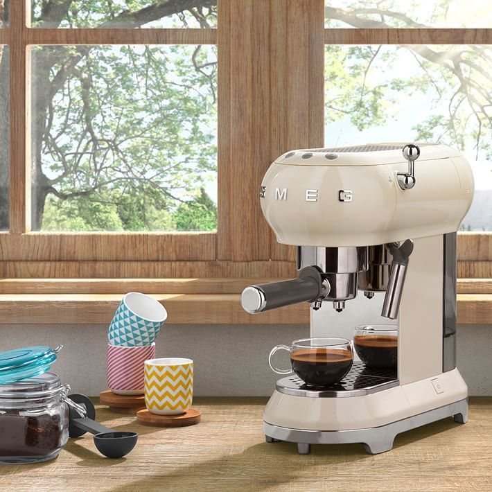 Retro Kitchen Appliances. Smeg Espresso Coffee Machine