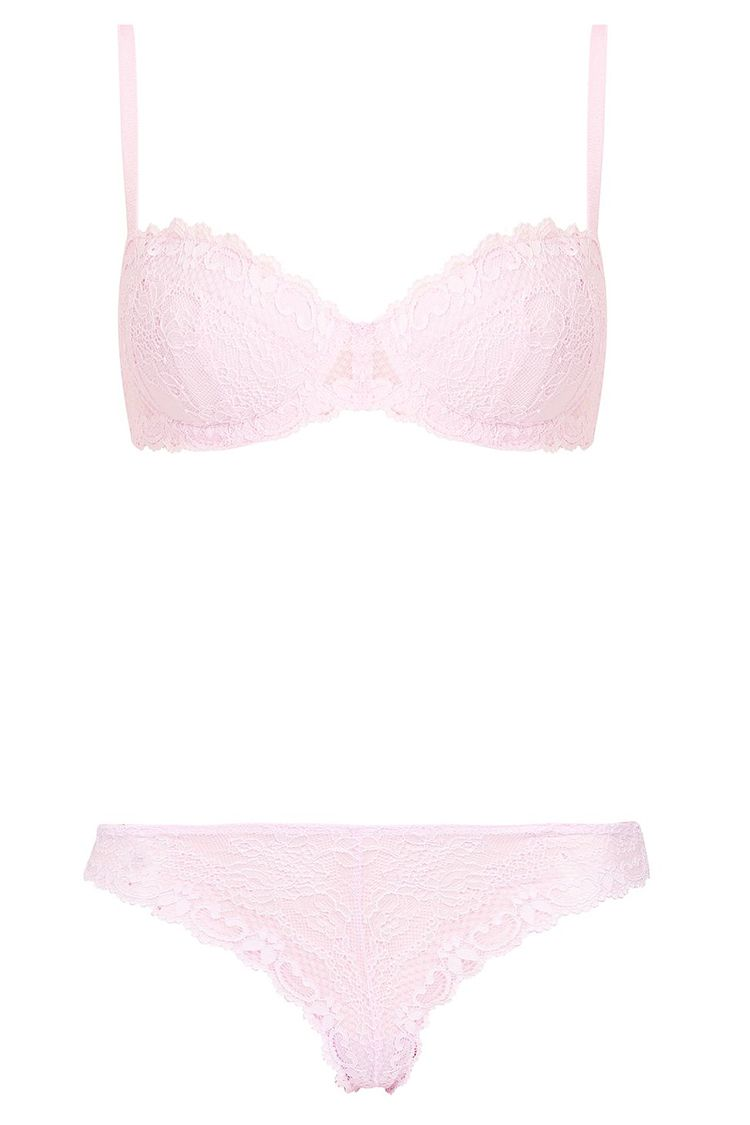 topshop pink lace bra and thong
