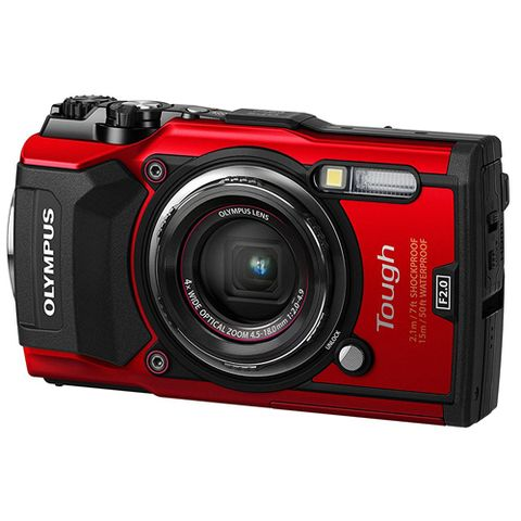 Product, Digital camera, Camera, Electronic device, Lens, Cameras & optics, Red, Photograph, Technology, Camera accessory,