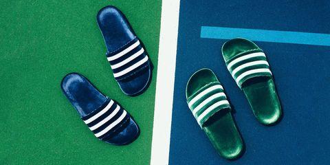 adias velvet sandals