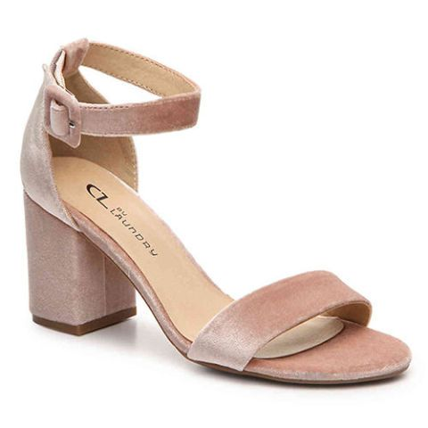 chinese laundry jody pink velvet sandals