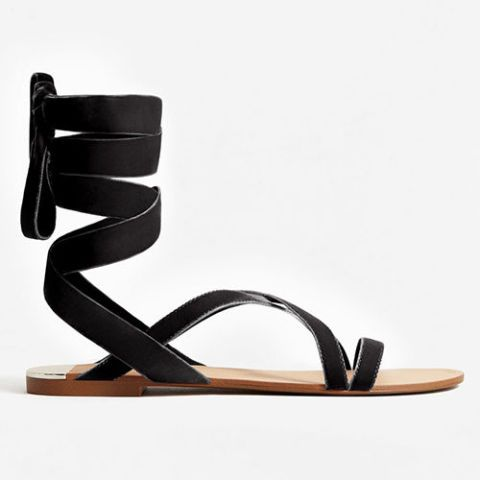 mango velvet black lace up sandals