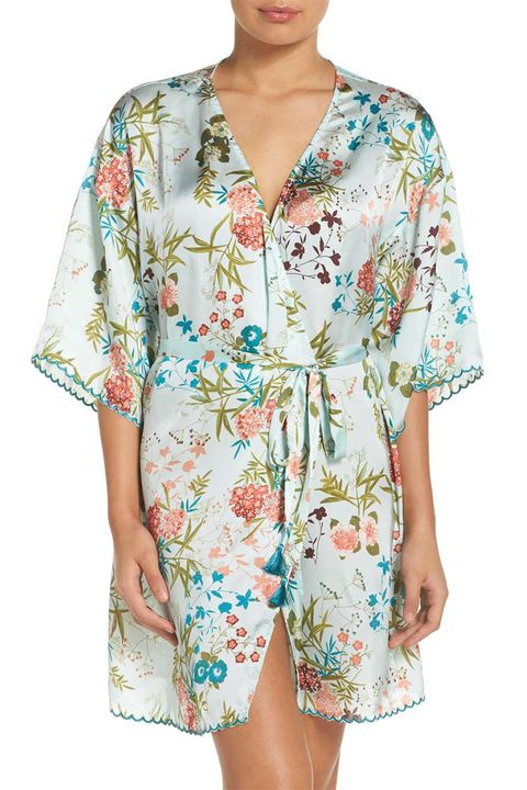 chelsea 28 blue floral print robe
