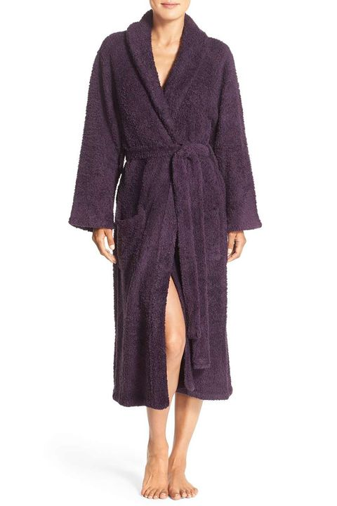 barefoot dreams cozy chic purple robe