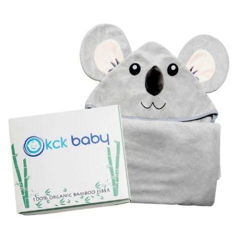 KCK Baby Organic Bamboo Fiber Koala Bath Towel