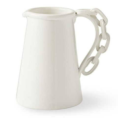 AERIN White Link Pitcher