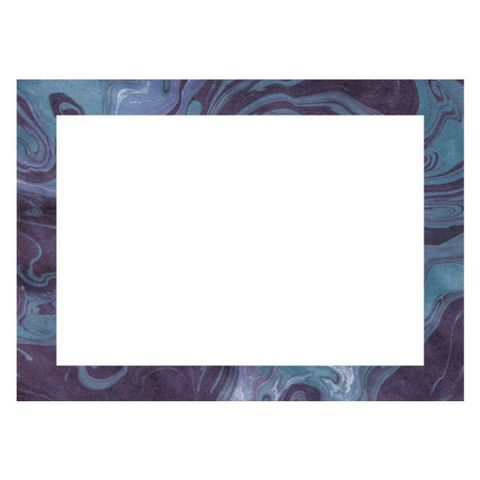Paper Source Navy Marble A6 Stationery
