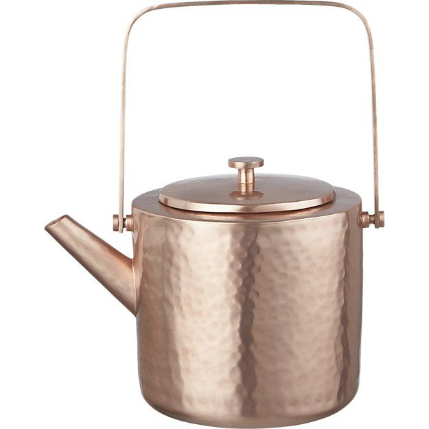 CB2 Copper Teapot