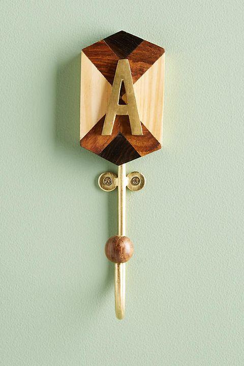 Marquetry Monogram Hook