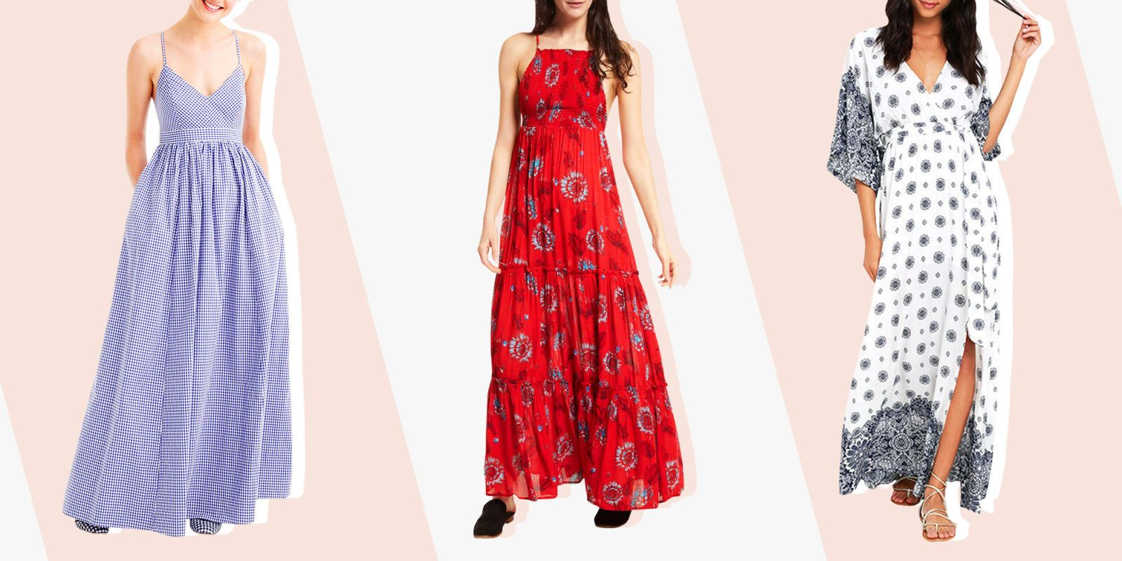 Maxi red dress 2018 h&m