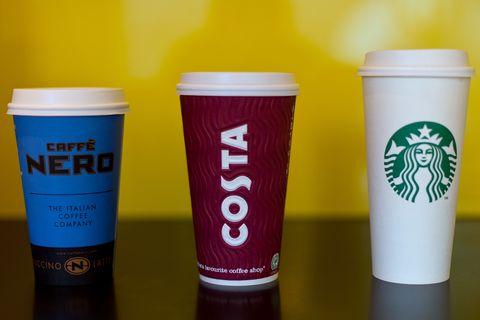 Caffe Nero, Costa, Starbucks  - facecal bateria found in ice in coffee chains