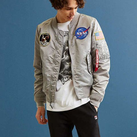 "<p><strong data-redactor-tag=""strong"" data-verified=""redactor""><em data-redactor-tag=""em"" data-verified=""redactor"">$199</em></strong> <a href=""https://www.urbanoutfitters.com/shop/alpha-industries-nasa-ma-1-bomber-jacket"" target=""_blank"" class=""slide-buy--button"" data-tracking-id=""recirc-text-link"">BUY NOW</a></p><p>Some confidence and a NASA bomber are the only things you need to make the people around you think you're a lot smarter than you really are.&nbsp;</p>"
