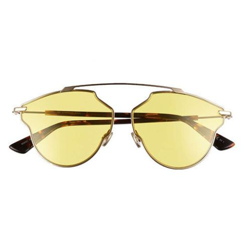 dior so real pop yellow sunglasses