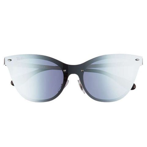 ray ban mirrored cat eye sunglasses