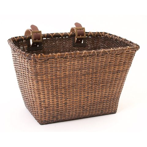 "Retrospec Bicycles Cane Woven Rectangular ""Toto"" Basket"