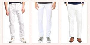 white men's pants