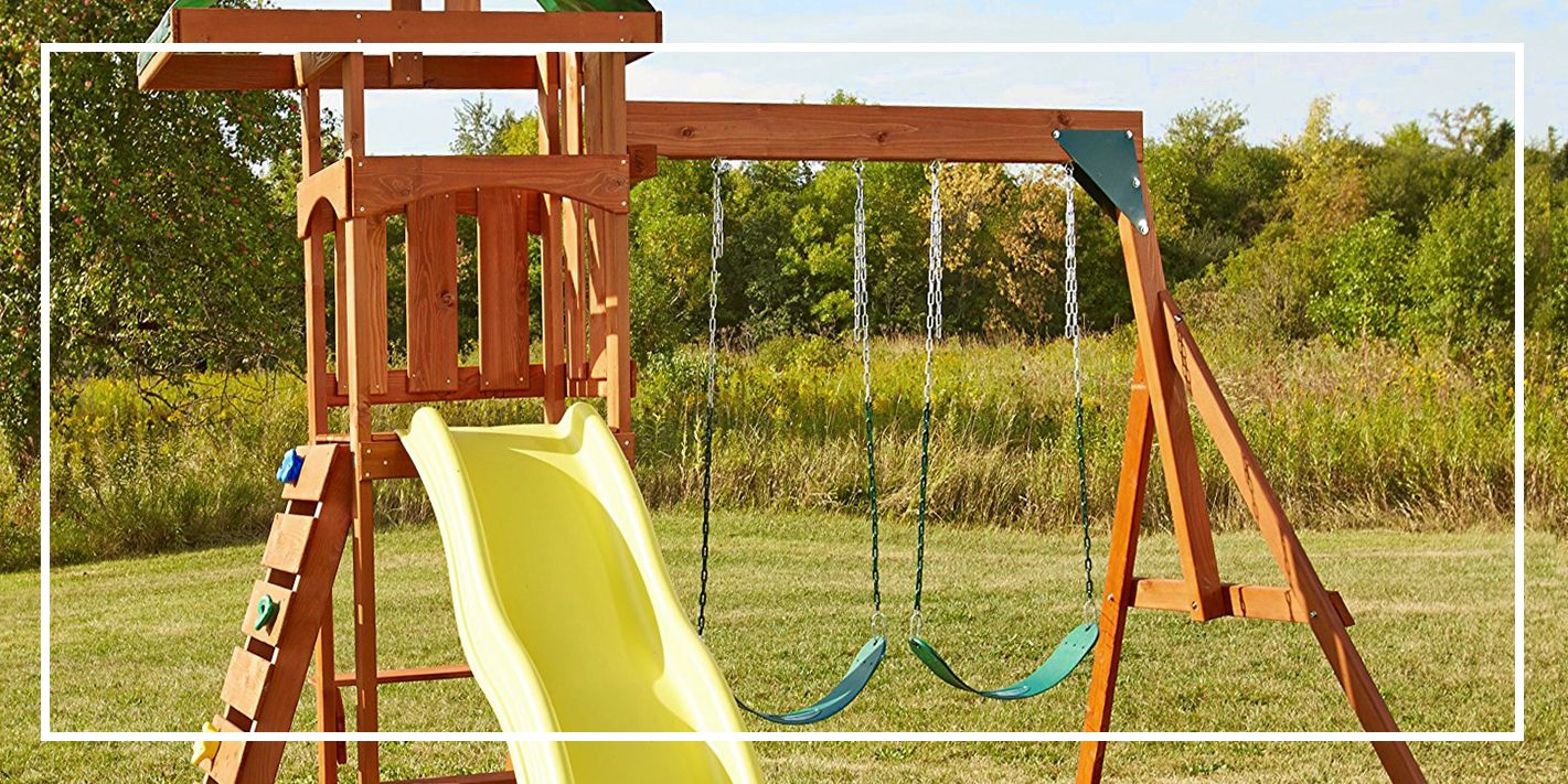 wooden with playset swingsets new fort for s swing lancaster slide cubbys cubby swings