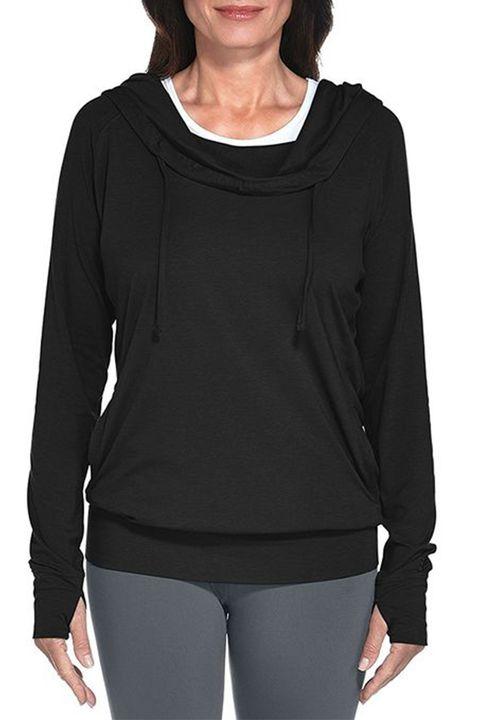 coolibar black pullover hoodie