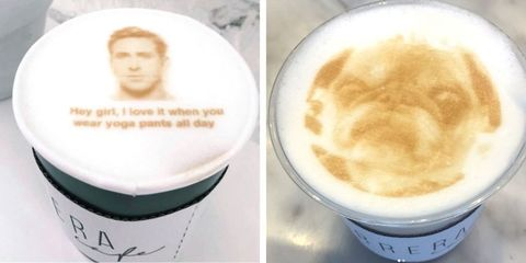 Carrera Cafe in Los Angeles, California prints any picture on your latte