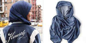 American Eagle Outfitters added a denim hijab to its online collection