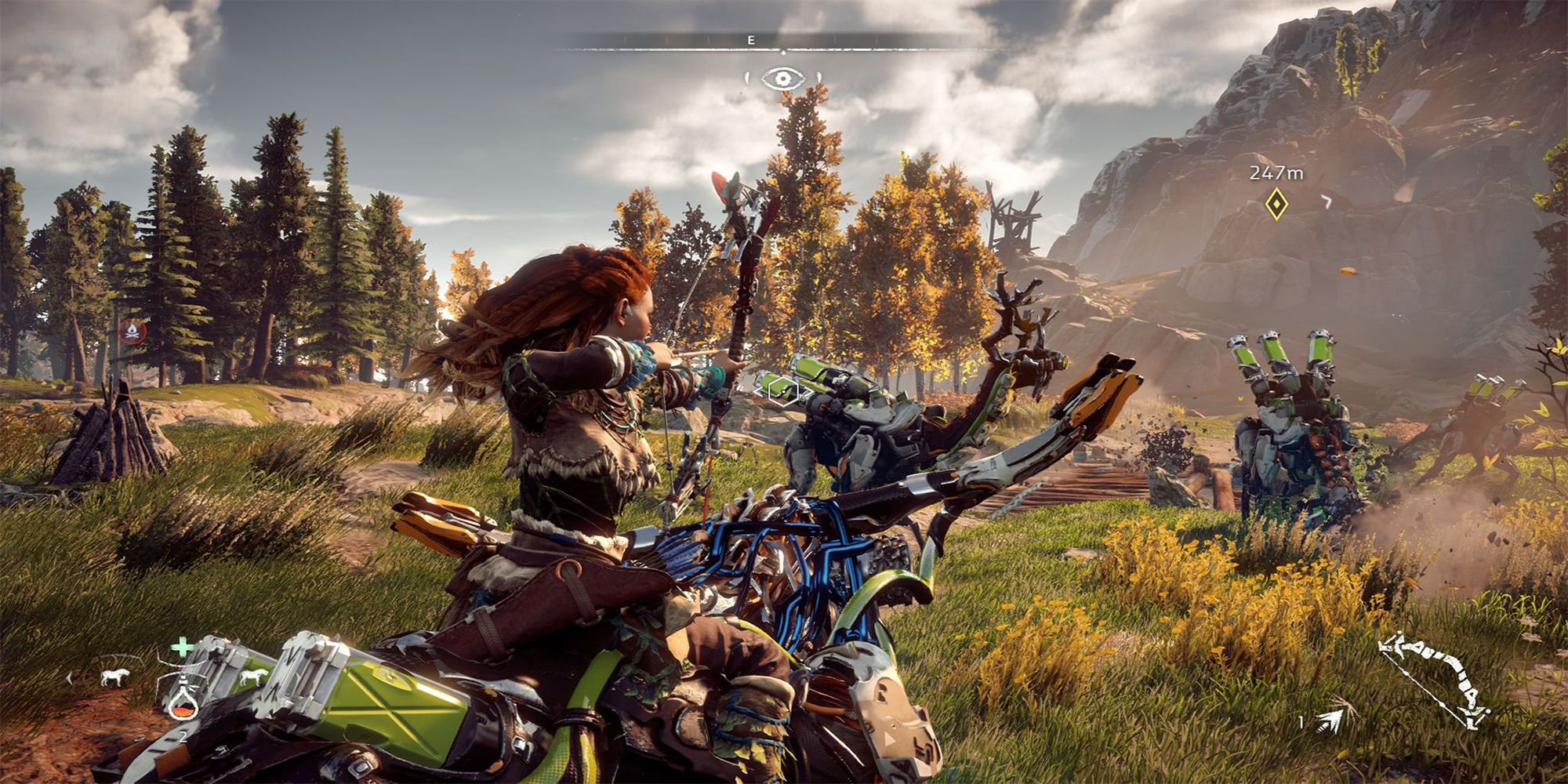 """<p><strong data-redactor-tag=""""strong"""" data-verified=""""redactor""""><em data-redactor-tag=""""em"""" data-verified=""""redactor"""">$40<a href=""""https://www.amazon.com/Horizon-Zero-Dawn-PlayStation-4/dp/B00ZQC73O8/?tag=bp_links-20"""" target=""""_blank"""" class=""""slide-buy--button"""" data-tracking-id=""""recirc-text-link"""">BUY NOW</a></em></strong><span class=""""redactor-invisible-space"""" data-verified=""""redactor"""" data-redactor-tag=""""span"""" data-redactor-class=""""redactor-invisible-space""""></span></p><p><em data-redactor-tag=""""em"""" data-verified=""""redactor"""">Horizon Zero Dawn</em> takes place in a post-apocalyptic society where you take the role as Aloy, a relentless, talented young huntress who was cast away from her tribe.<span class=""""redactor-invisible-space"""" data-verified=""""redactor"""" data-redactor-tag=""""span"""" data-redactor-class=""""redactor-invisible-space"""">The game's vast world is full of mechanized beasts akin to dinosaurs, and fighting these machines is an exhilarating but exhausting experience. As the game goes on, you're able to craft new tools and learn more ways to take them down. The game manages to find the perfect balanceof story, combat, a</span>nd exploration, making it a fine choice to add to your game collection.<br></p>"""