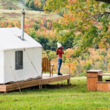 State park, House, Cottage, Home, Camping, Grass, Backyard, Yurt, Room, Building,