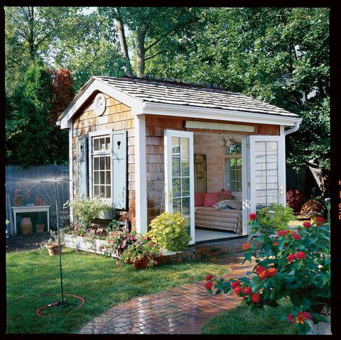 Plant, Property, House, Building, Garden, Home, Real estate, Door, Fixture, Roof,
