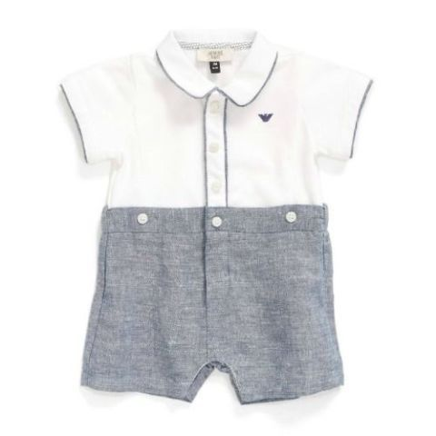 d819a7b51ed Best Designer Baby Clothes. Armani Junior Shortie Bodysuit