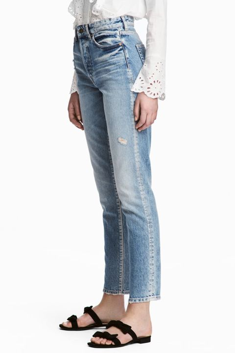 h&m vintage high waist cropped jeans