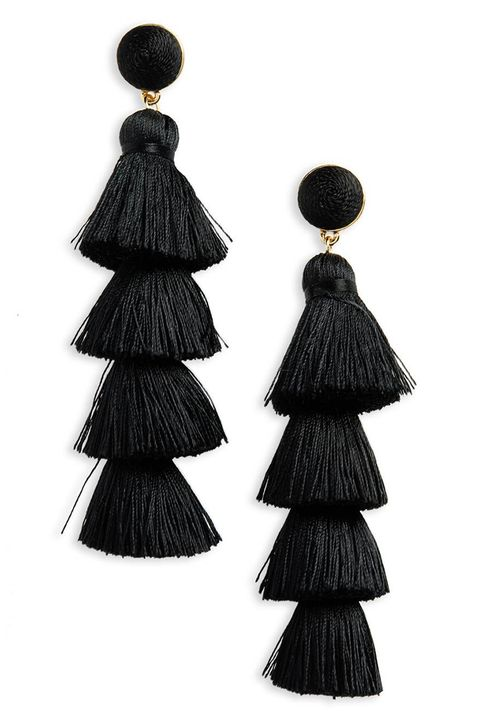 baublebar antonella black tassel earrings