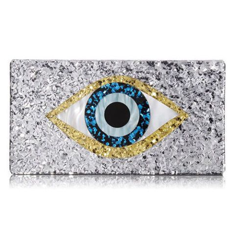 sam edelman glitter evil eye clutch