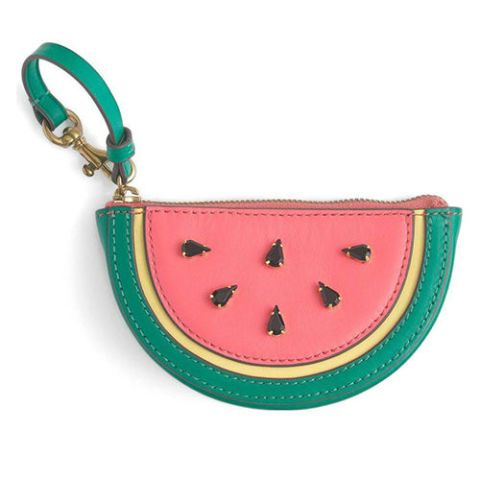 j crew watermelon zip coin purse