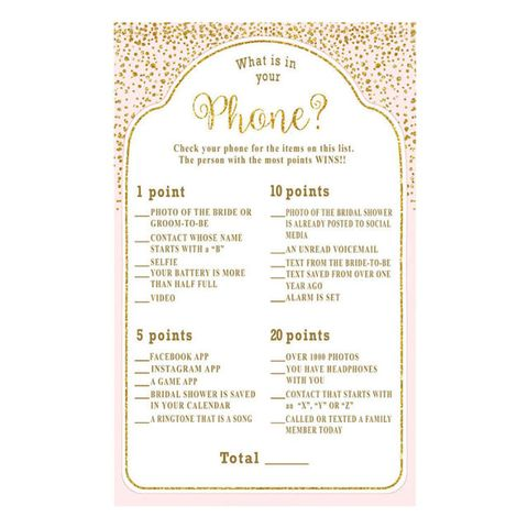 sunnyside cottage art whats in your phone bridal shower game