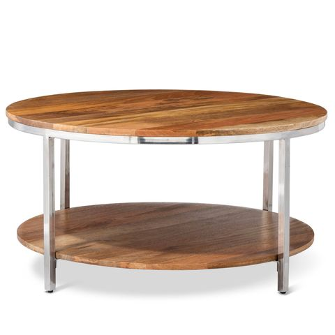 Threshold Berwyn Round Coffee Table Metal and Wood