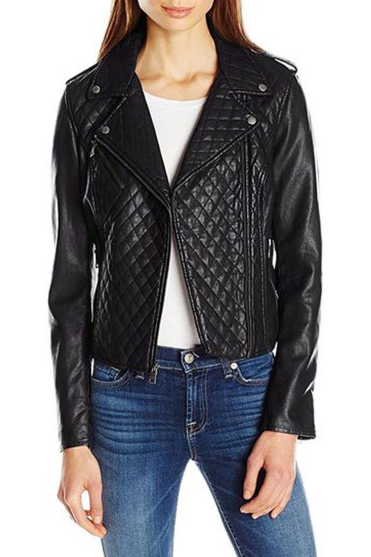 levis black quilted leather jacket