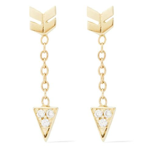 jennie kwon gold arrow diamond earrings