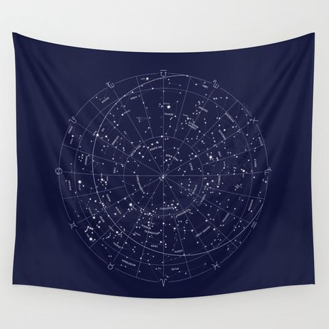 Society6 Constellation Map Tapestry